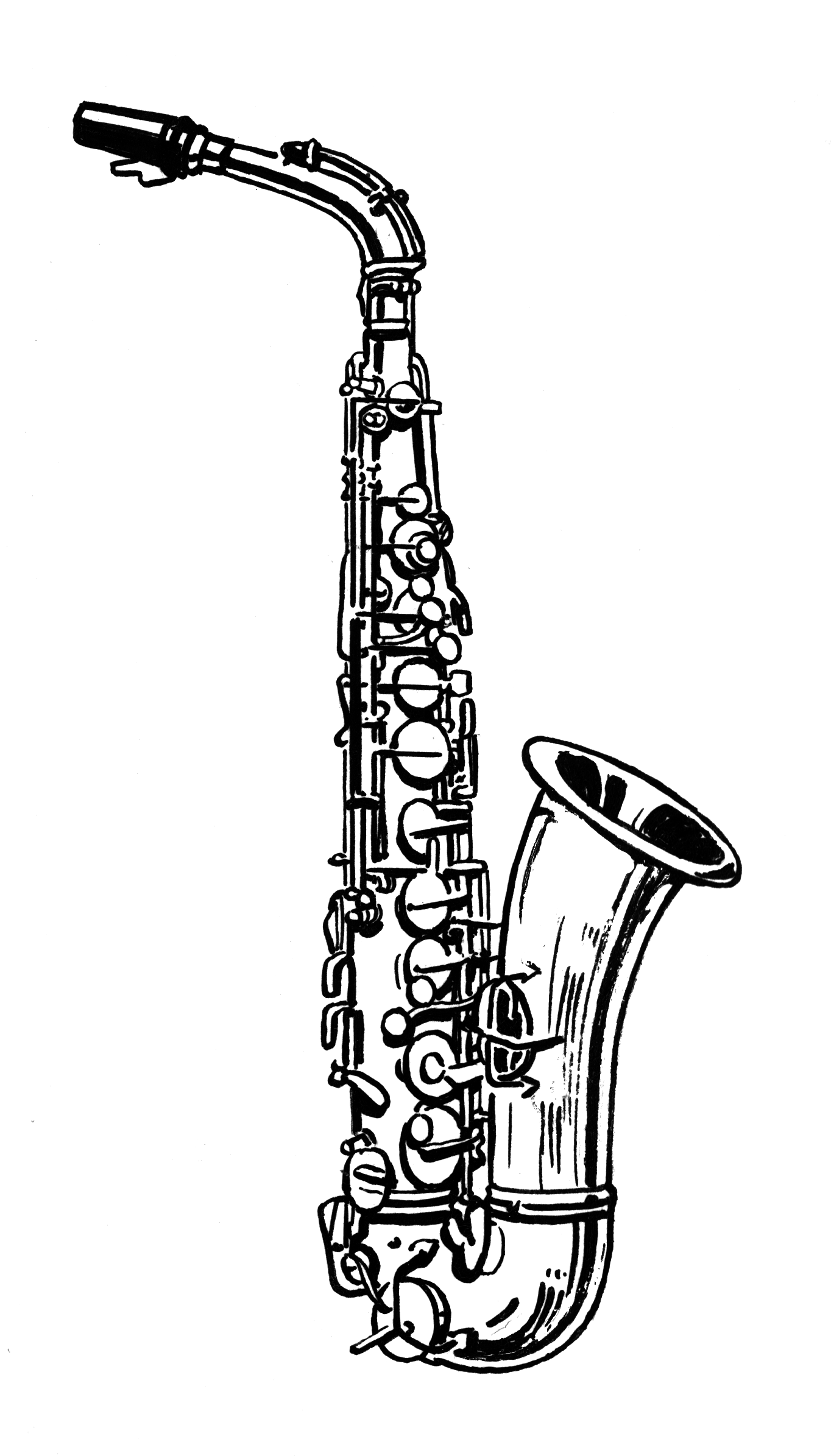 Displaying 20> Images For - Alto Sax Drawing...