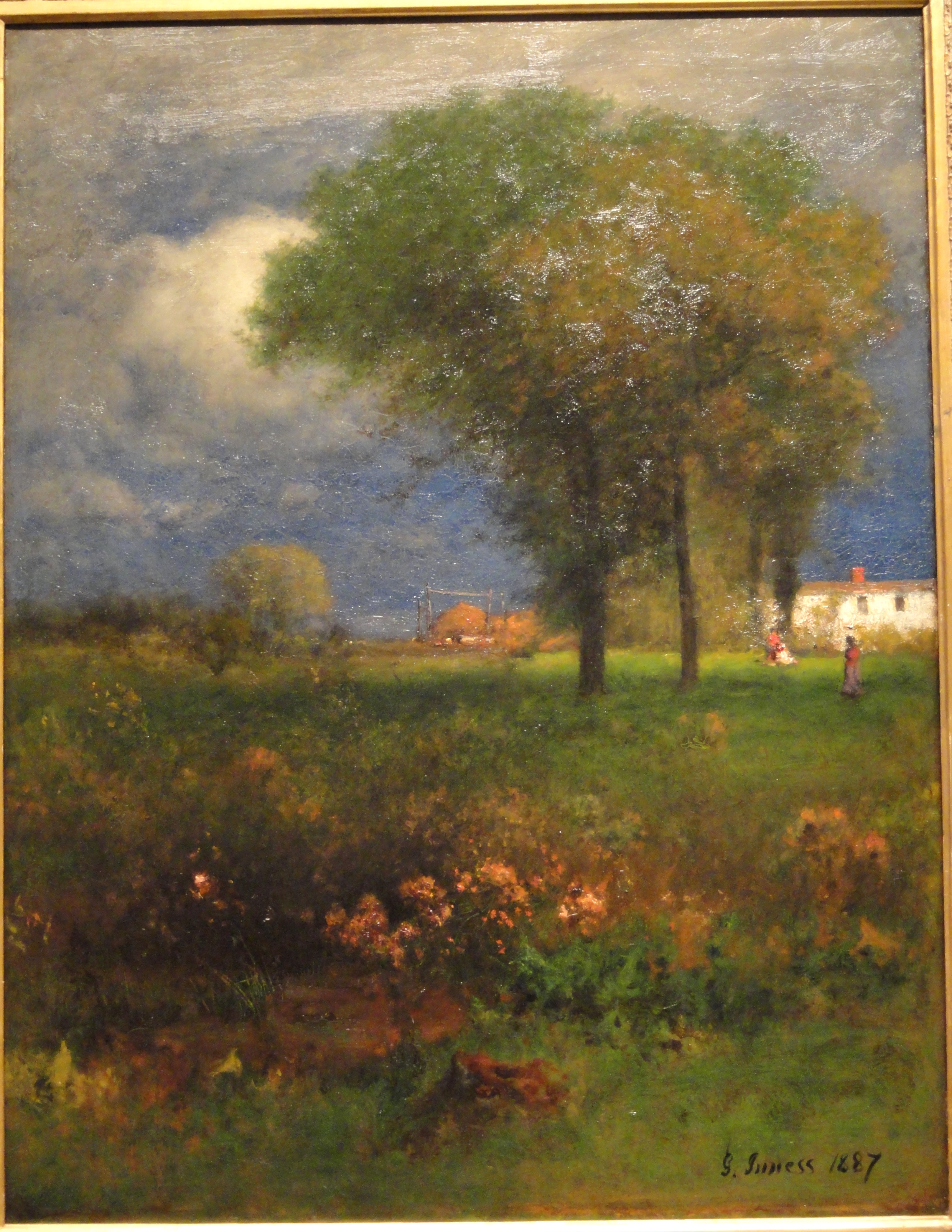 george inness early moonrise - HD 3230×4181