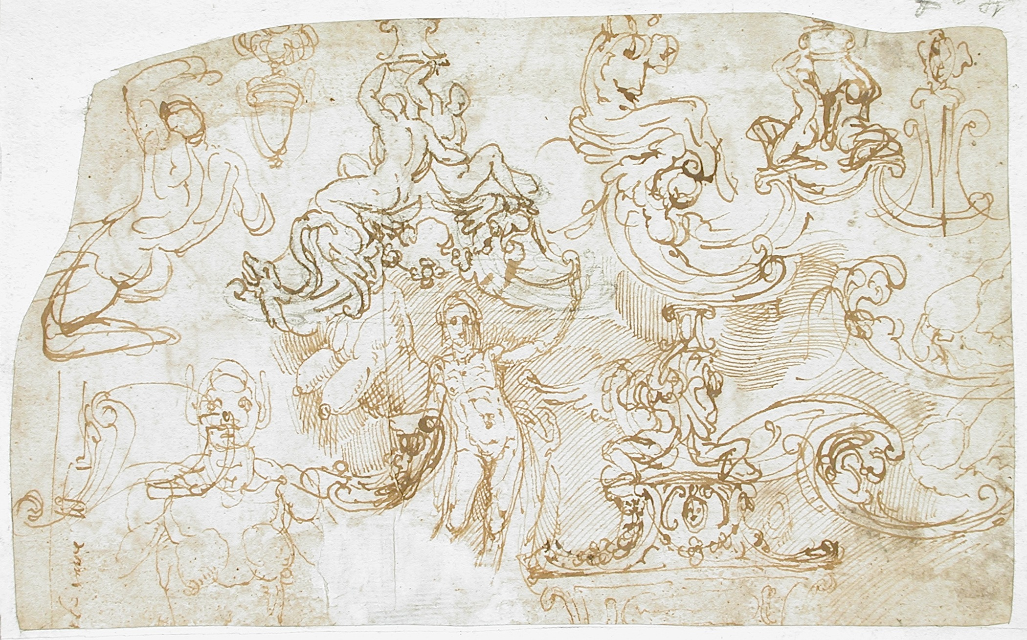 File:Sheet Of Figural, Ornamental And Architectural Studies (recto And  Verso) LACMA