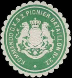 File:Siegelmarke Kommando d. K.S. 2. Pionier-Batallion Nr. 22 W0352321.jpg