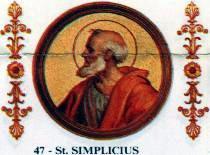 Simplicius, Papst
