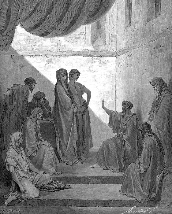 고넬료 가정의 베드로 (귀스타브 도레, Gustave Dore, 1866년)