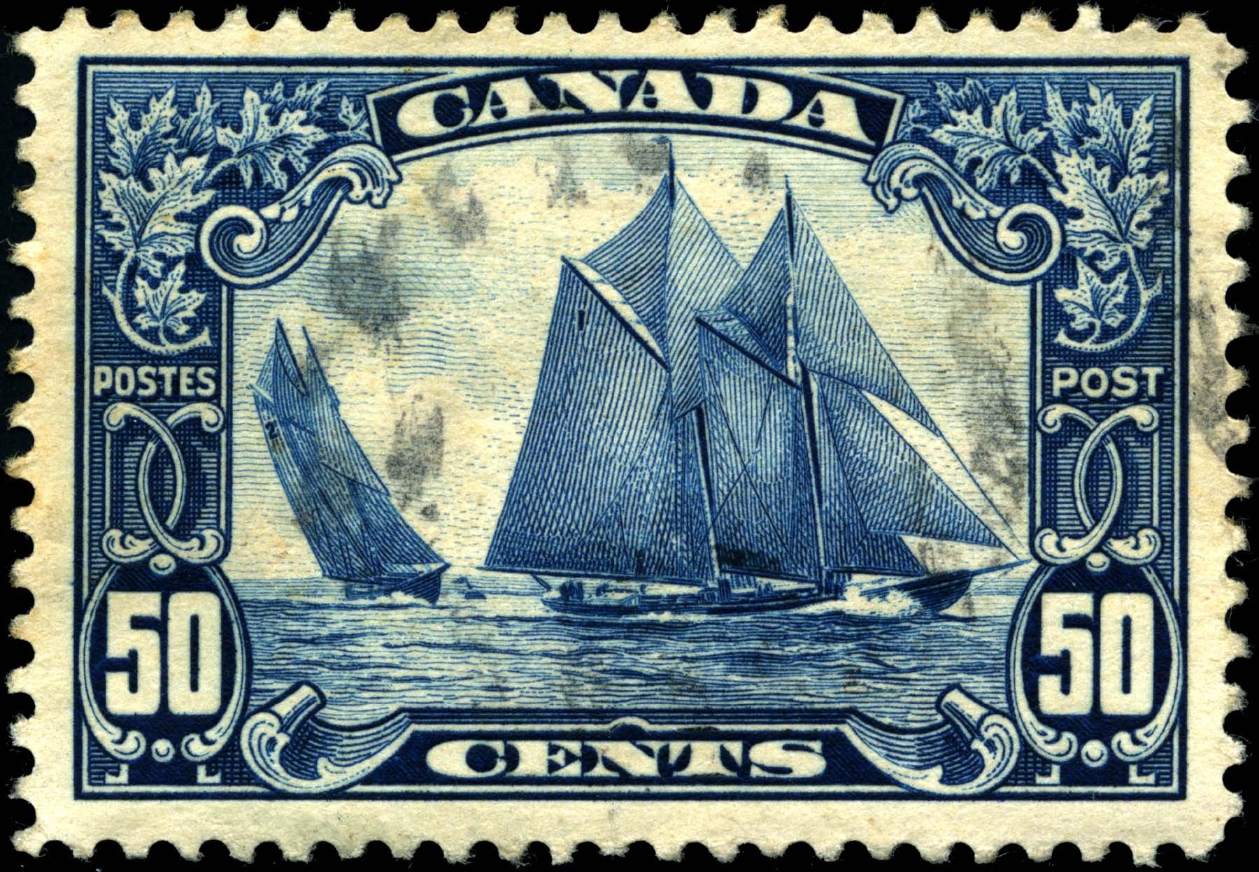 Datei Stamp Canada 1929 50c Bluenose Jpg Wikipedia