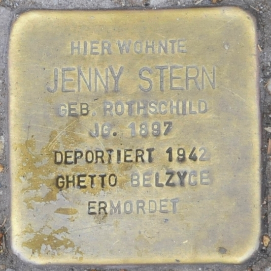 File:Stolperstein Georgenstraße 25, Eisenach-Jenny Stern-CTH.JPG