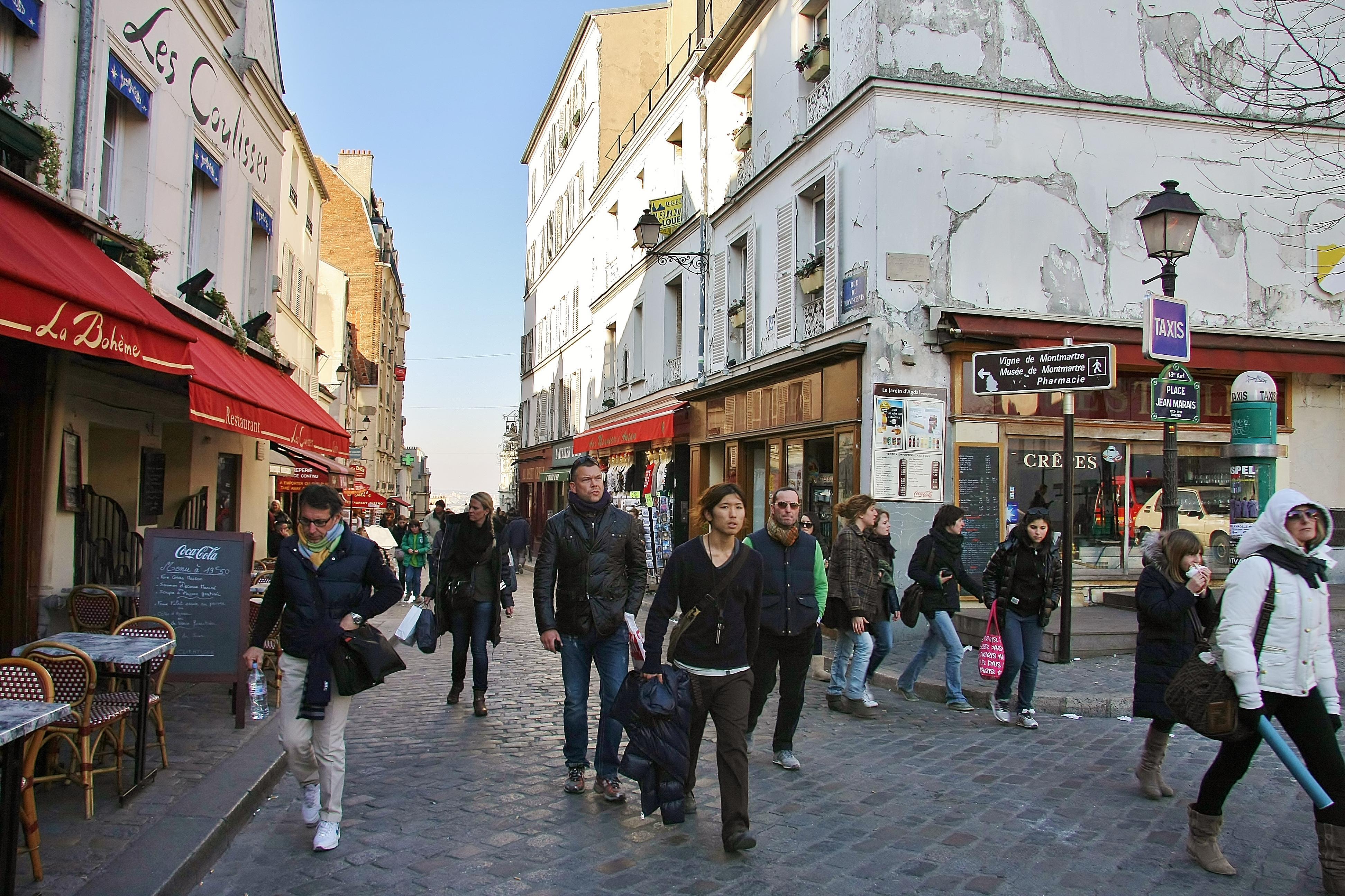 Paris Street Cafe Painting