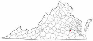 Location of Fort Lee, Virginia