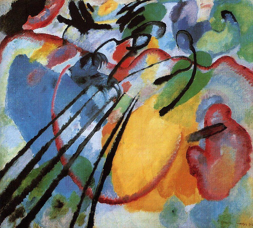 improvisation 26 1912 stdtische galerie im lenbachhaus mnchen - Wassily Kandinsky Lebenslauf