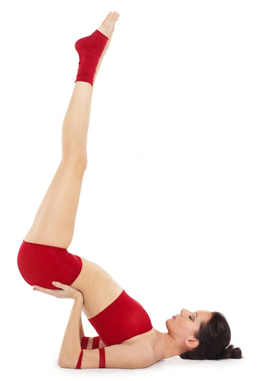 legs up the wall yoga asana