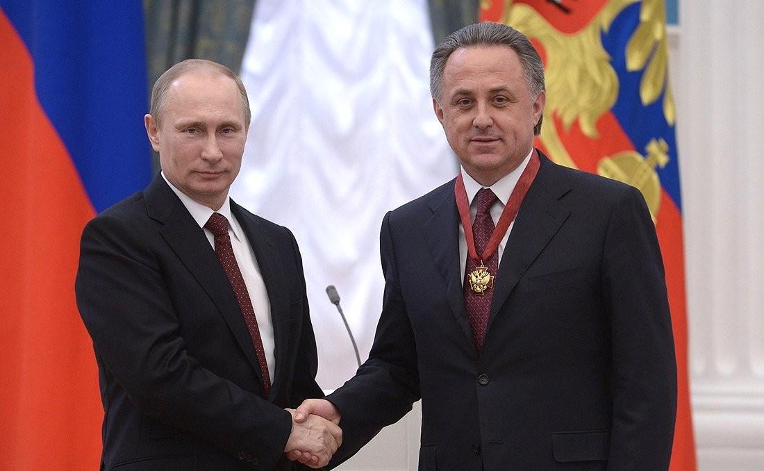 Vladimir Putin and Vitaly Mutko 24 March 2014
