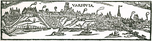 Widok Warszawy z około 1573 roku