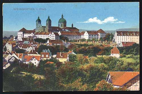 Weingarten - Postkartenansicht 1917 - Quelle: Wikipedia