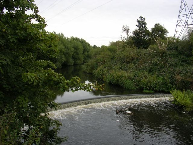 Weir on the River Mersey - geograph.org.uk - 56715