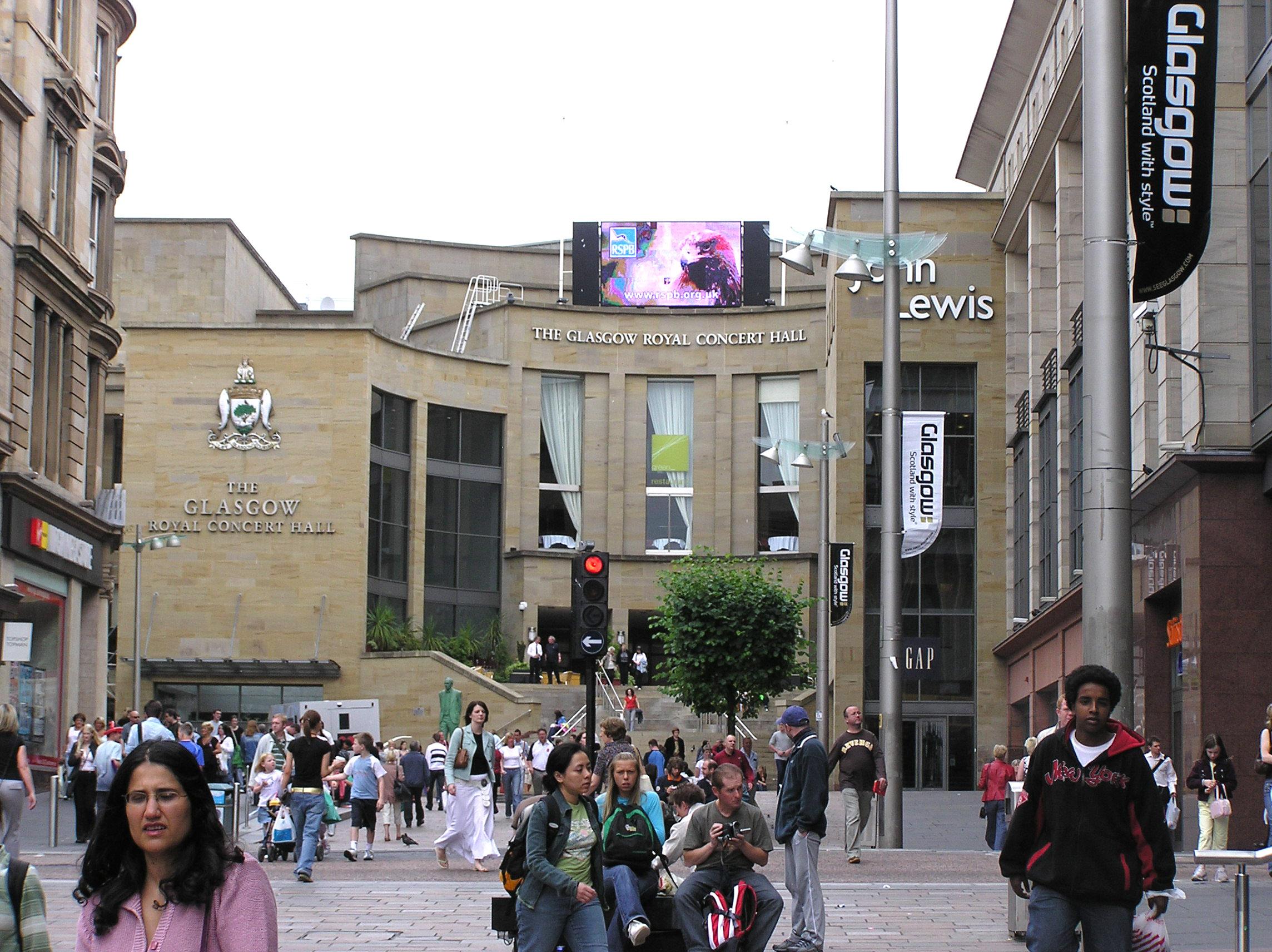 Glasgow Concert Hall Cafe Menu