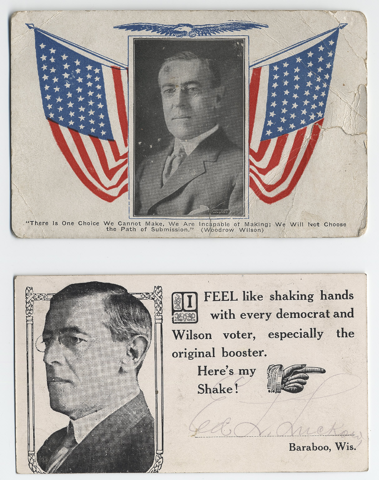 Wilson Portrait Postcards, 1912-1916
