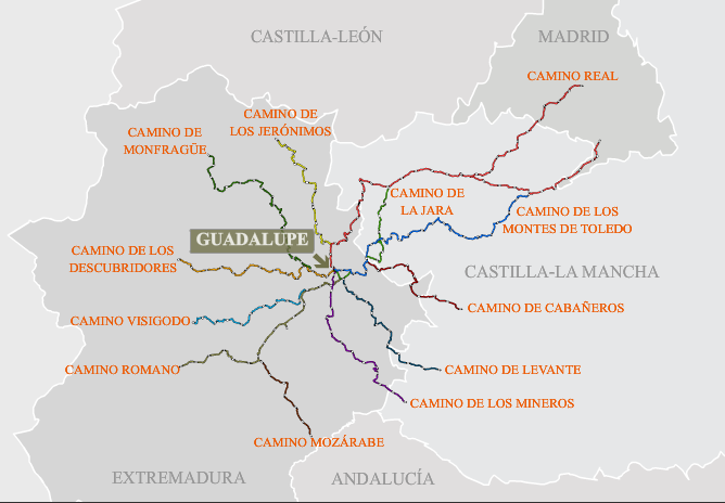 12 caminos históricos de Guadalupe