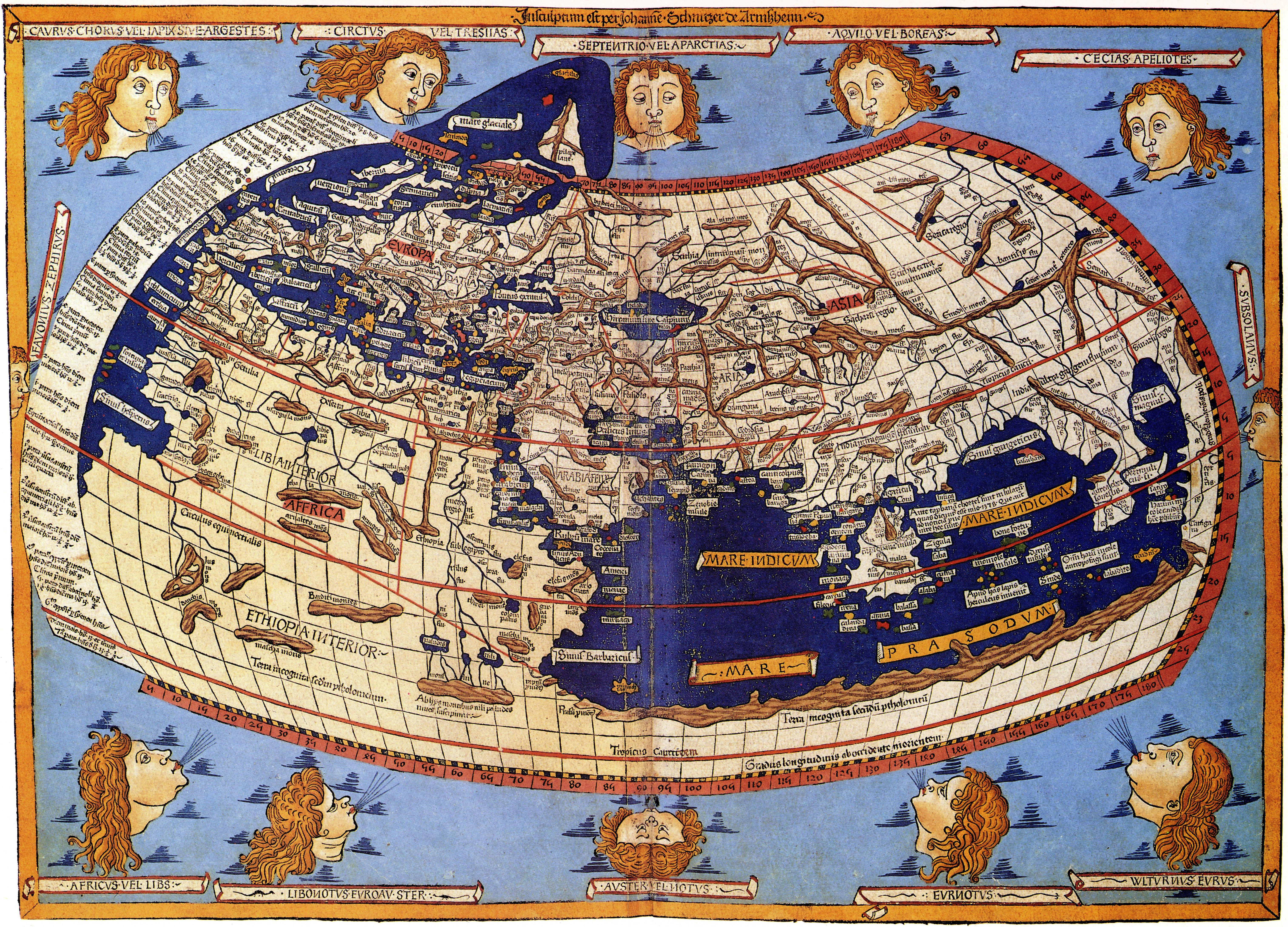 Americas birth certificate the oldest globular world map c 1507 85httpuploadmediawikipediacommons33c1482cosmographiagermanusguselangde sciox Choice Image
