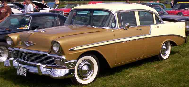 File 1956 chevrolet bel air 4 door wikimedia for 1956 chevy 4 door