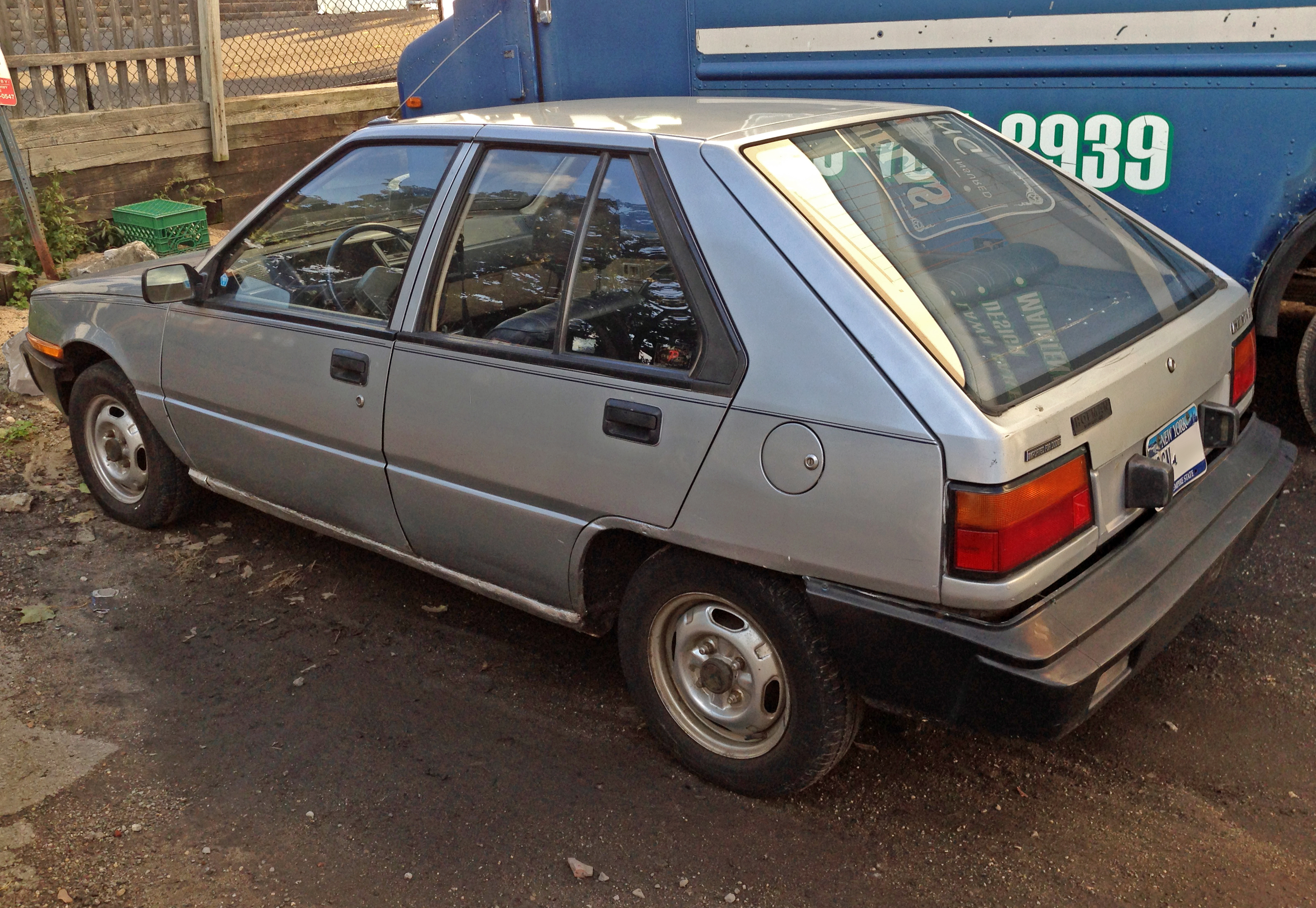 File 1985 Dodge Colt E 5 Dr Hatch Rear Jpg Wikimedia