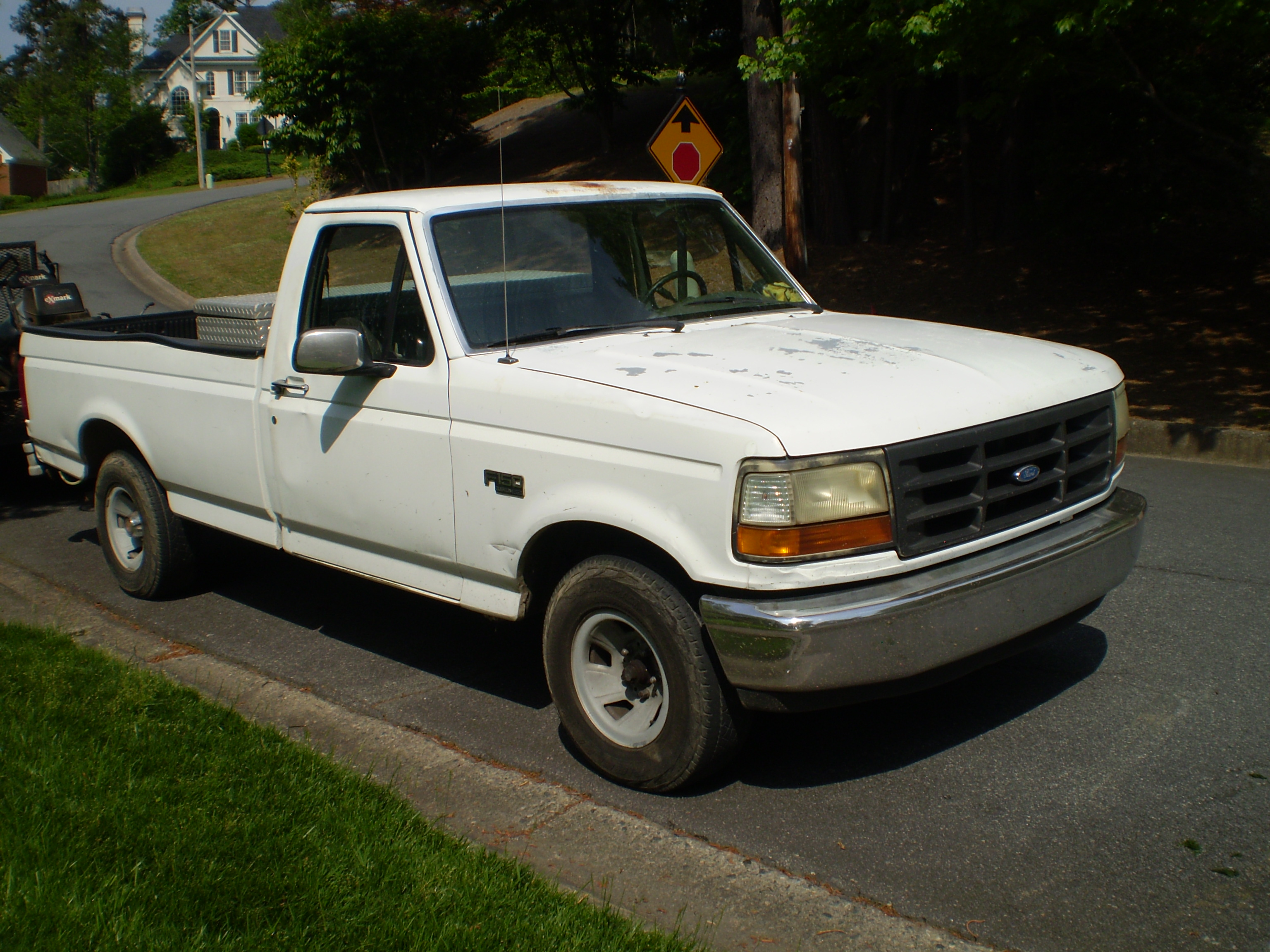 file 1992 ford f 150 custom observe jpg wikimedia commons. Black Bedroom Furniture Sets. Home Design Ideas