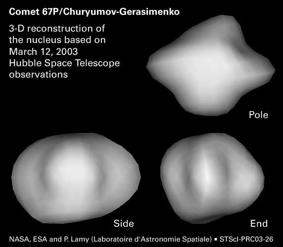 Rosetta : réveil et approche de 67P/Churyumov-Gerasimenko - Page 11 67PNucleus