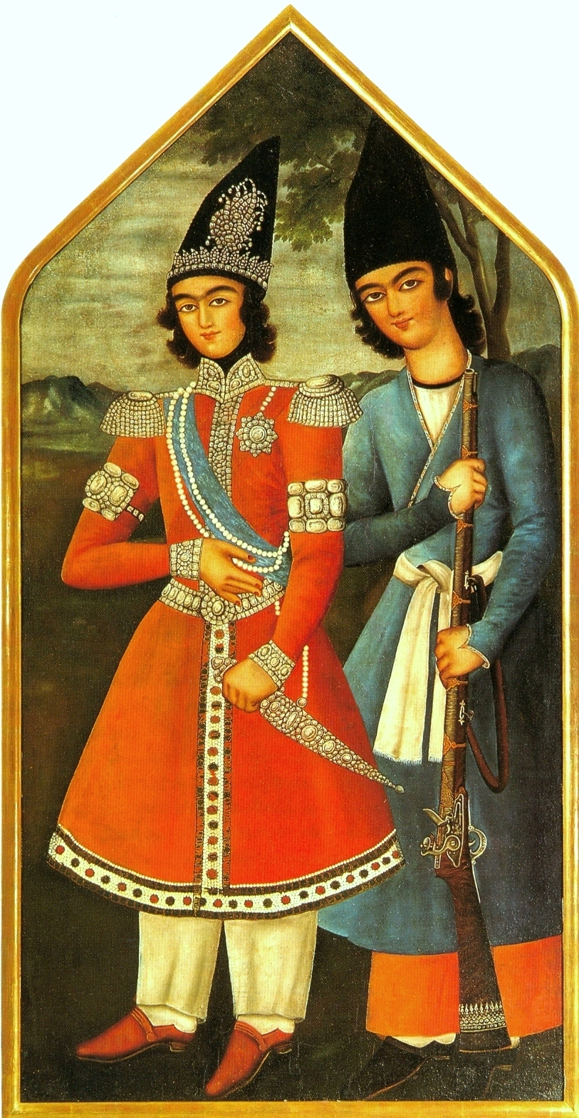 http://upload.wikimedia.org/wikipedia/commons/3/3c/A_Qajar_prince_and_his_attendant_1820.jpg