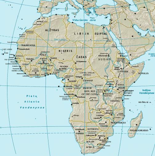 Afrikos zemelapis