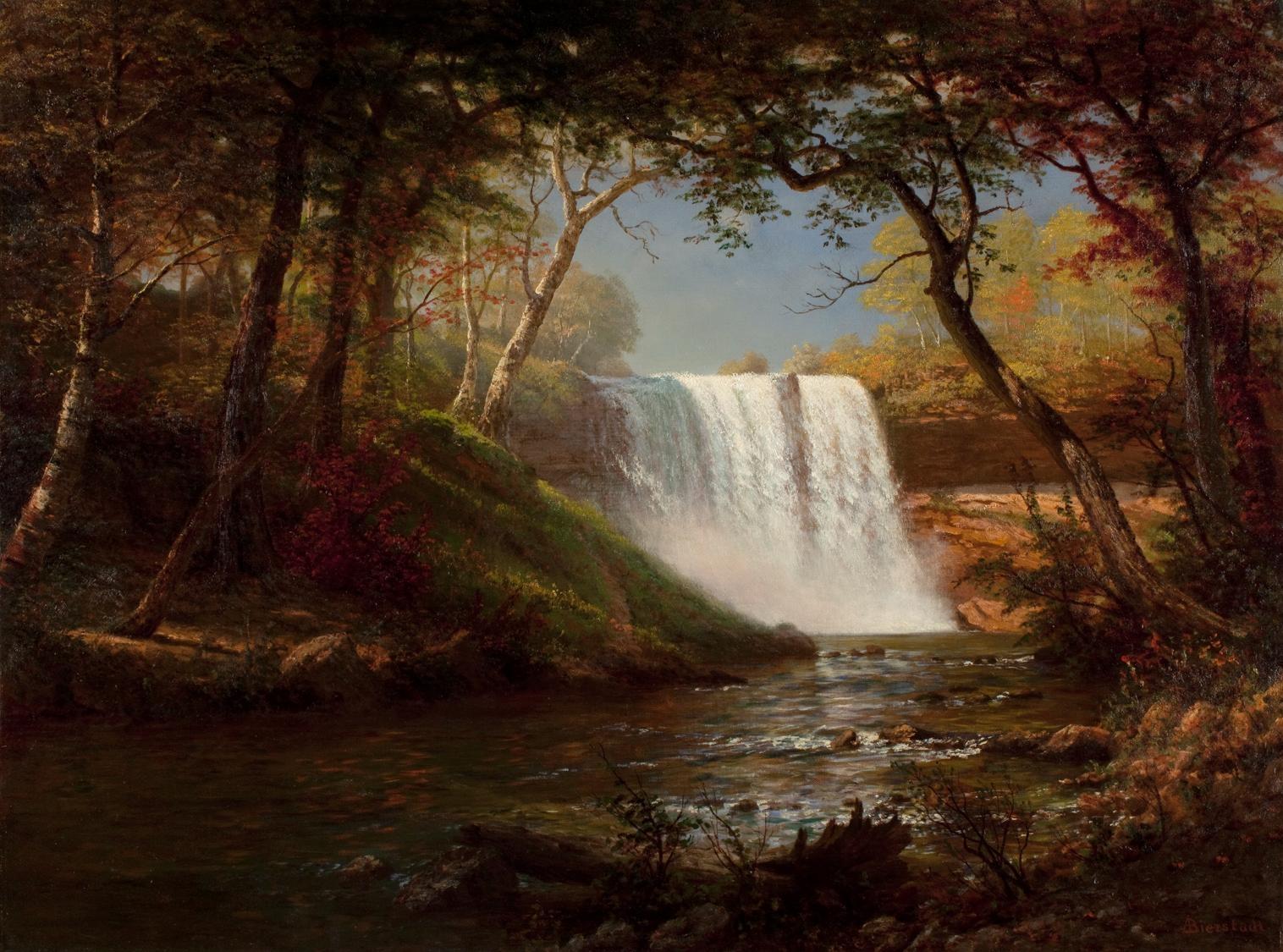 File Albert Bierstadt Minnehaha Falls Jpg Wikimedia