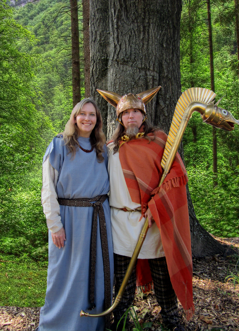 File:Ancient Celtic Couple, husband and wife, man and ...