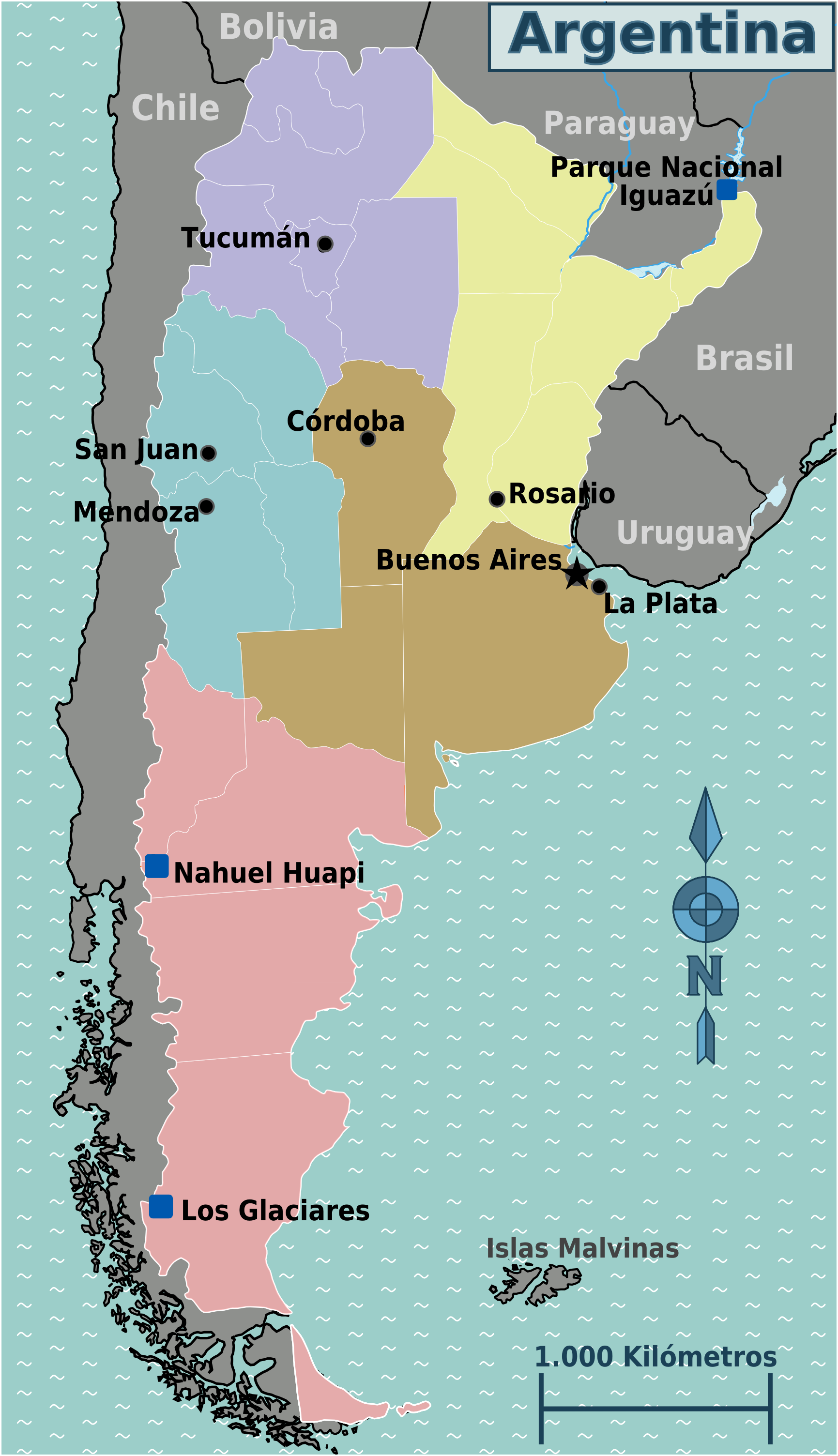 Argentina Map With Provinces - Argentina map provinces