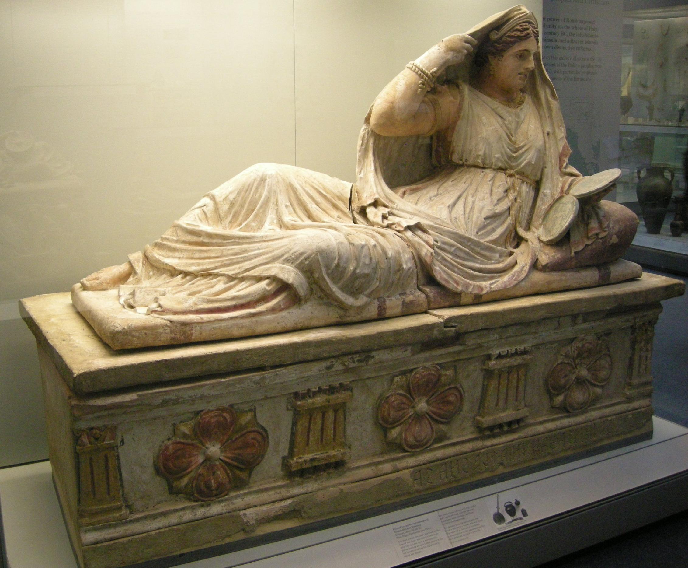 File Arte Etrusca Sarcofago Di Thanunia Seianti 150 130