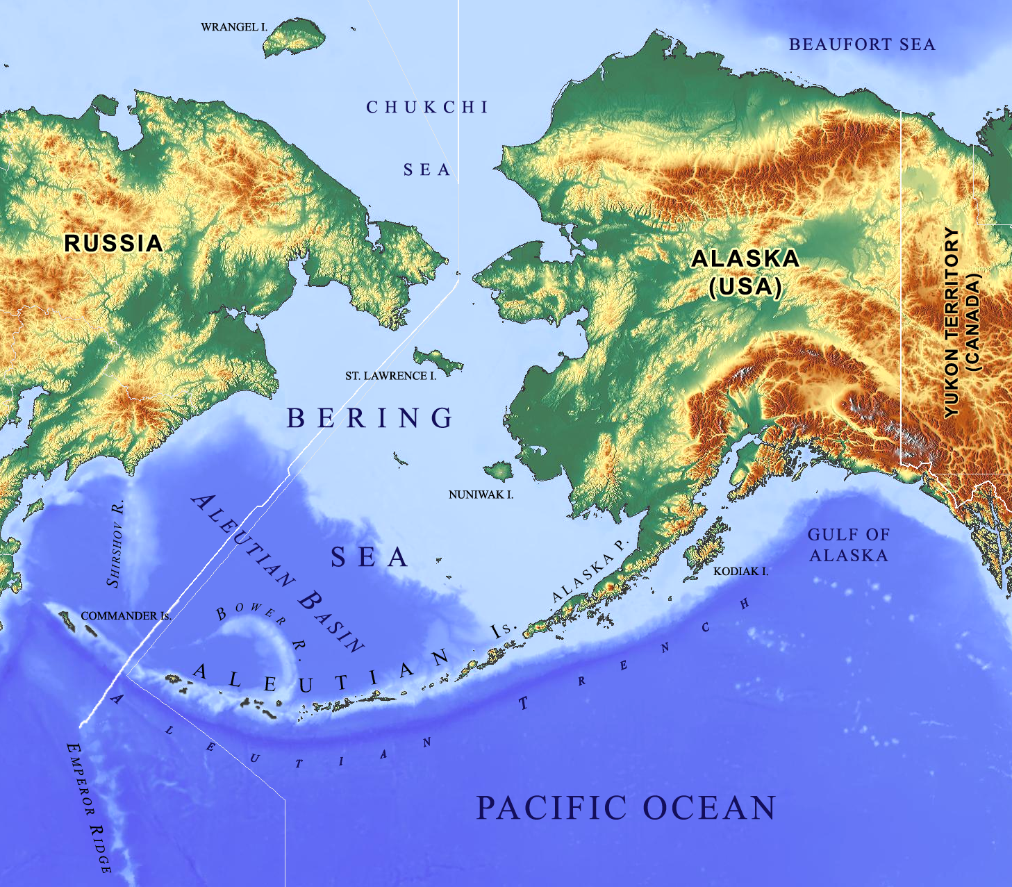 Picture of: File Bering Sea Aleutian Is Alaska Map Png Wikimedia Commons