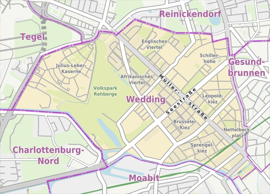 Berlin-Wedding Karte