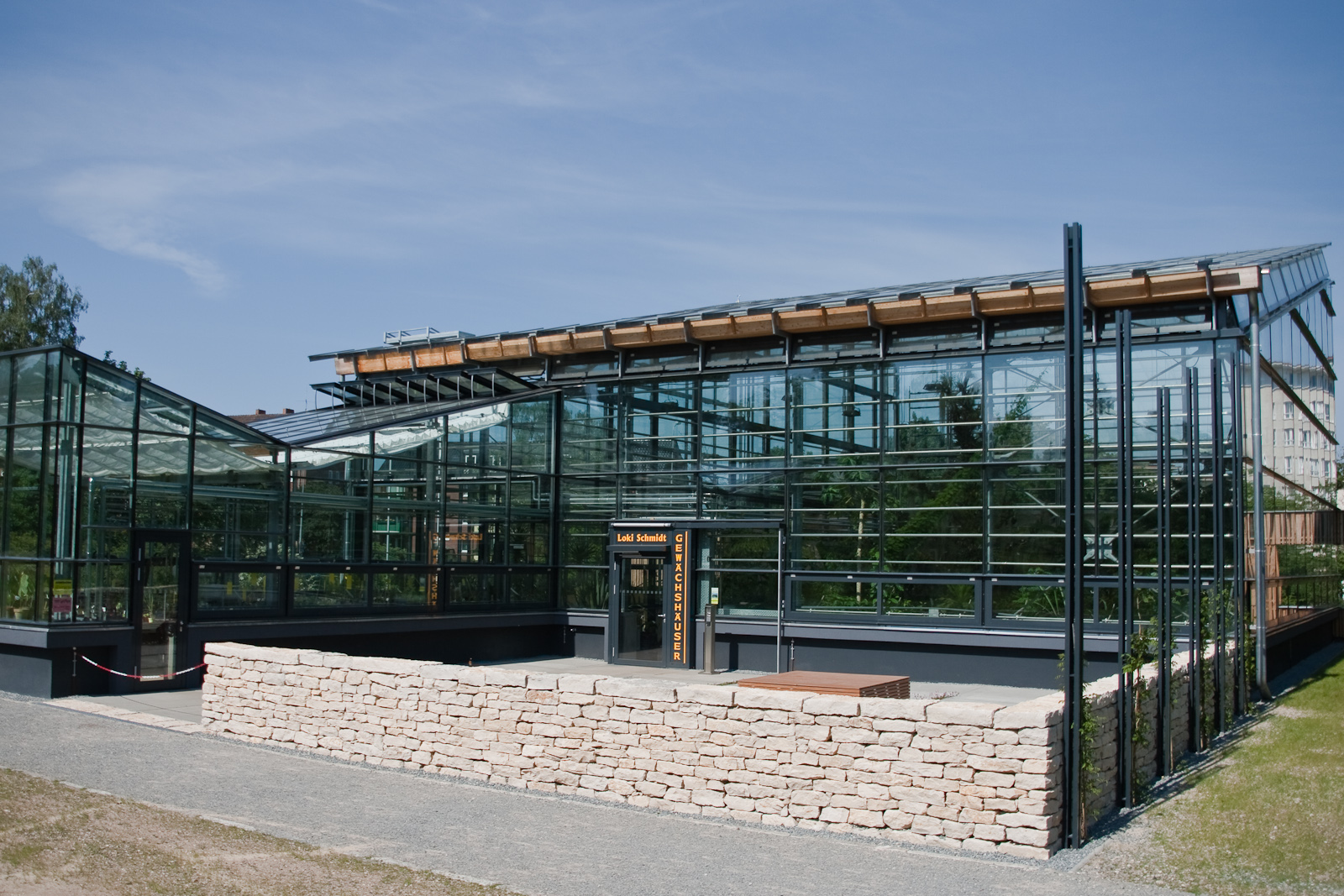 Garten Rostock file botanischer garten rostock loki schmidt gewächshaus eingang jpg