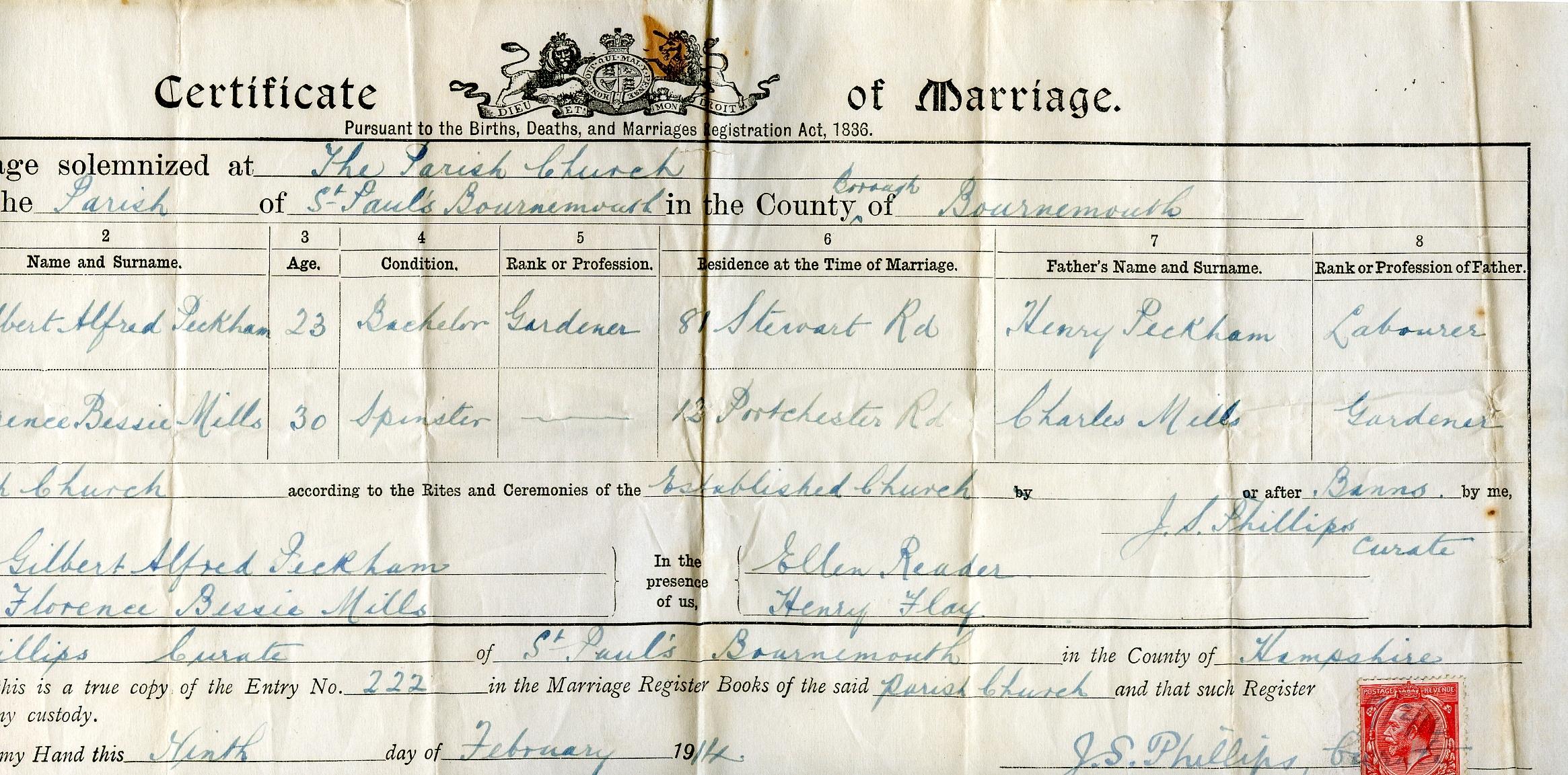 Filebournemouth Marriage Certificate Bg Wikimedia Commons