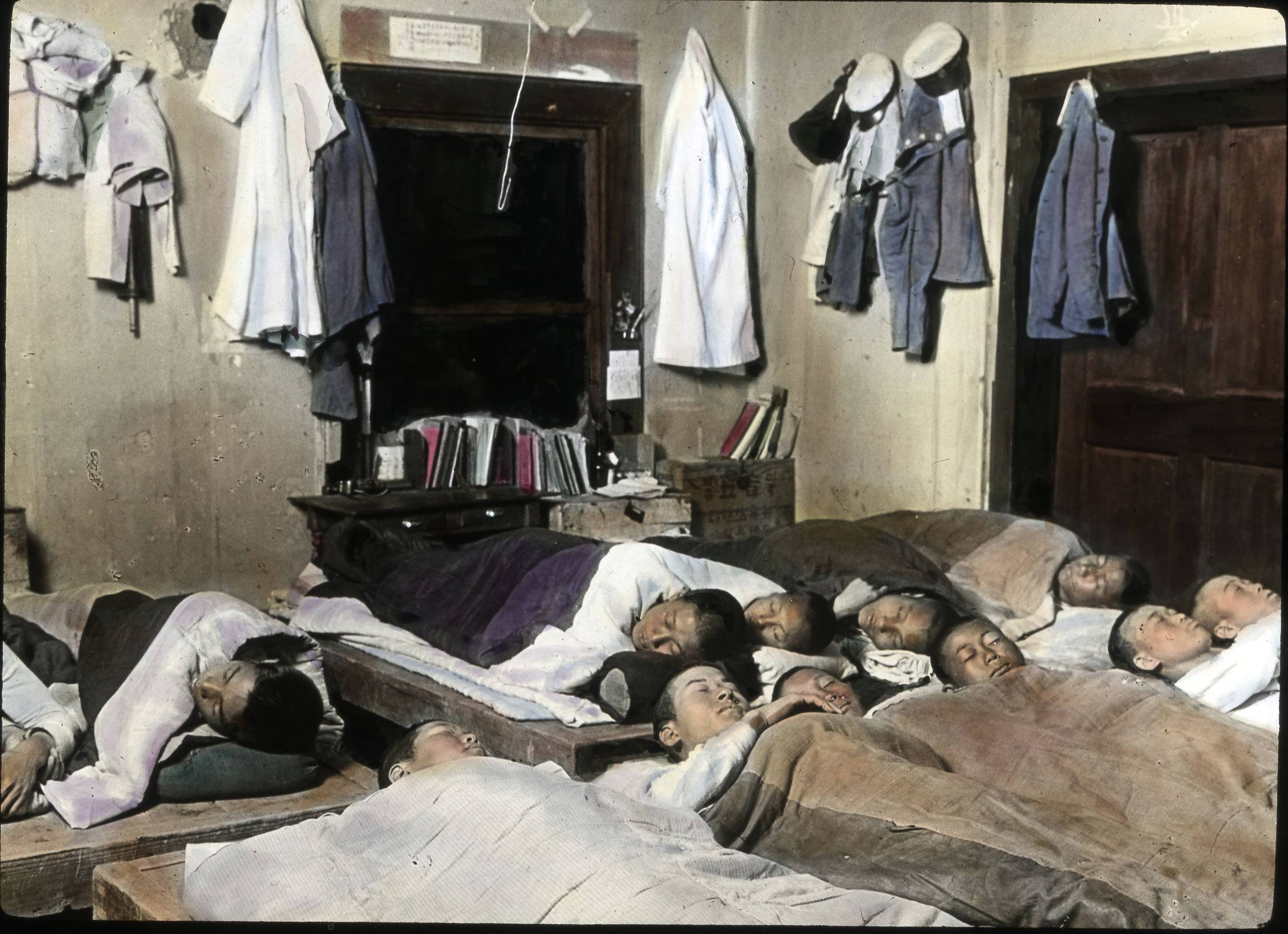File:Boy's dormitory room, Pyengyang High School, (s.d ...