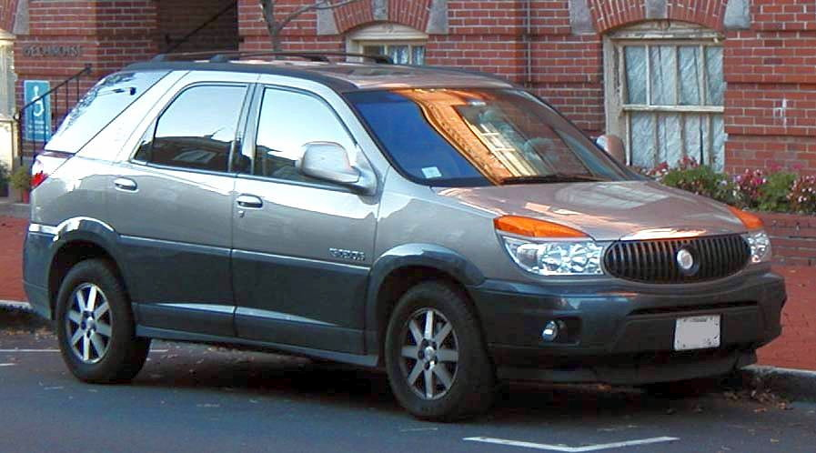 "Buick Rendezvous. Dubbed by Forbe's as the ""most dangerous SUV"","