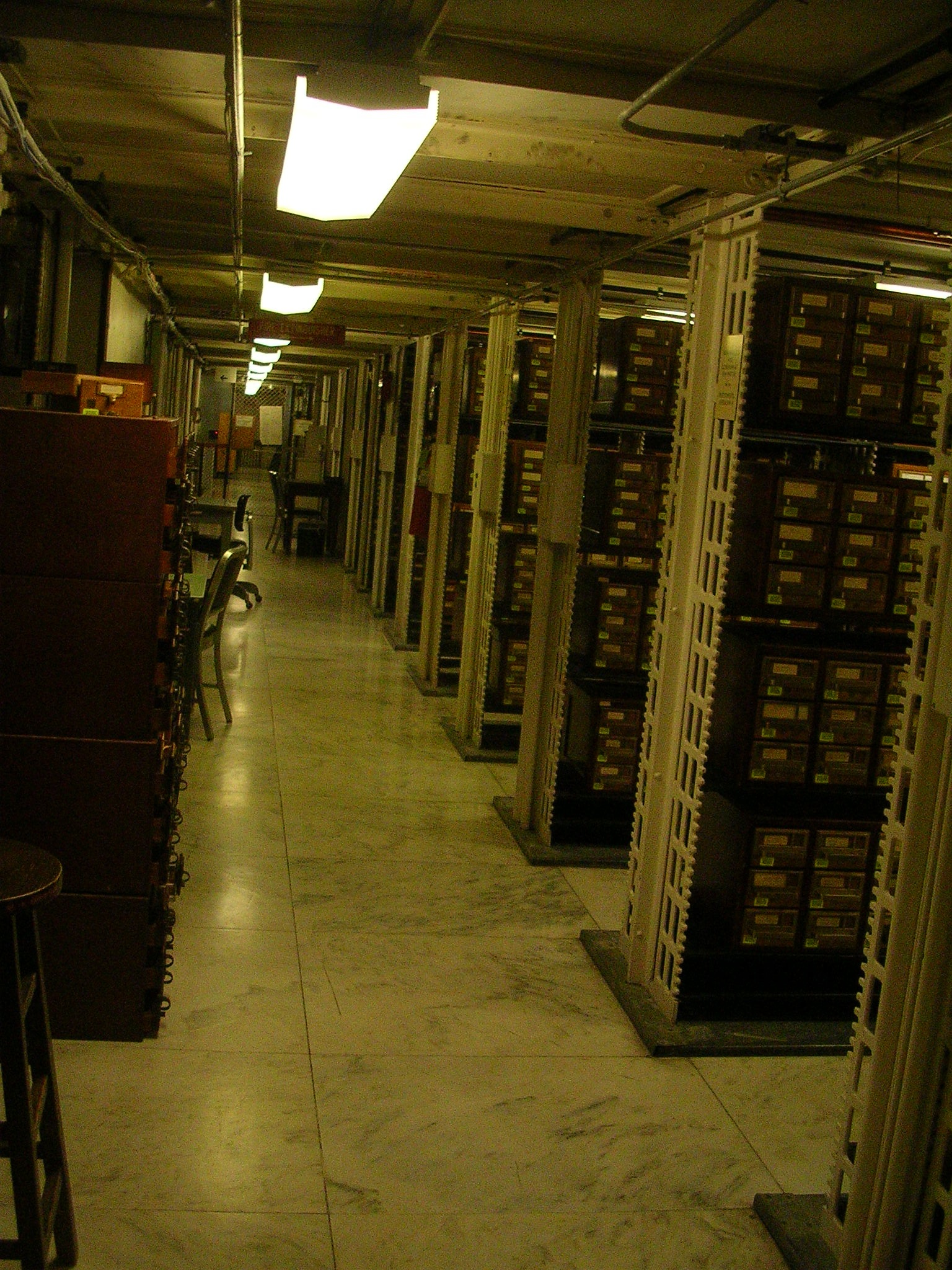 File Card Catalogs In The Basement Of The Library Of