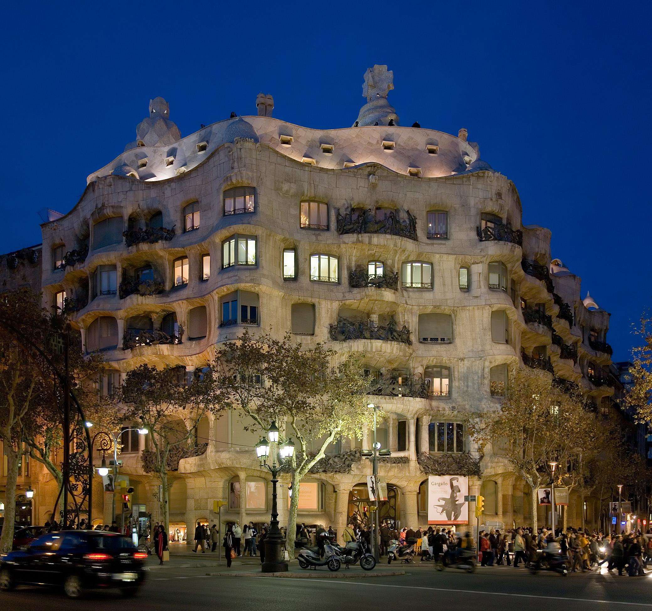 Noches verano en La Pedrera de Gaudí