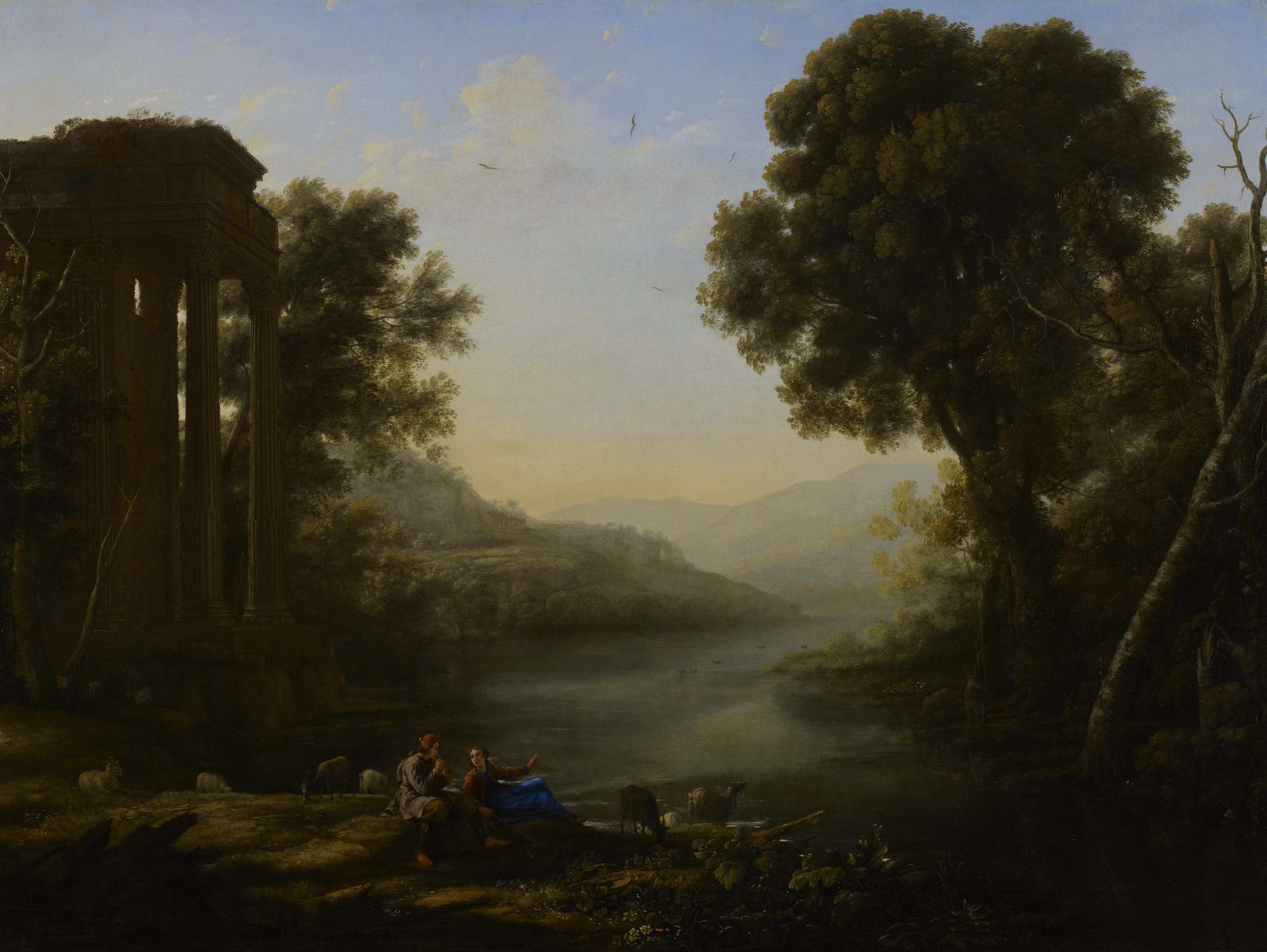 file claude lorrain paysage pastoral minneapolis institute of arts jpg wikimedia commons. Black Bedroom Furniture Sets. Home Design Ideas