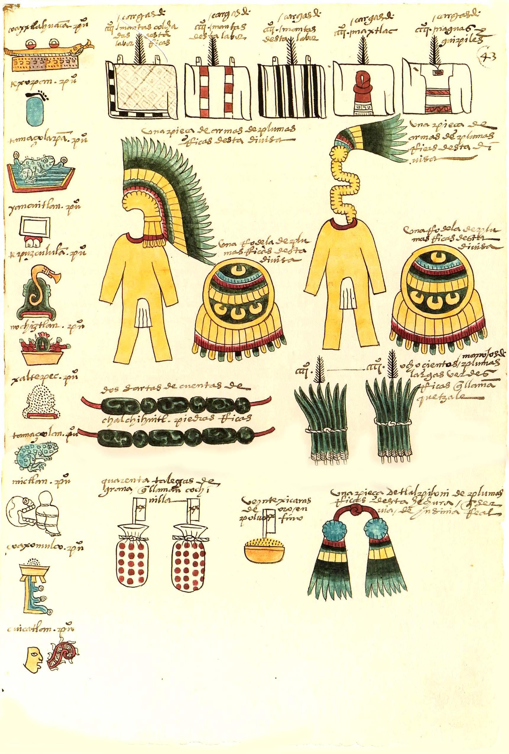 Codex Mendoza Teposcolula tribute