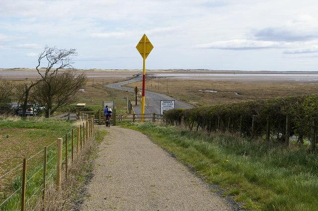 Cycle path near Holy Island Causeway - geograph.org.uk - 409162