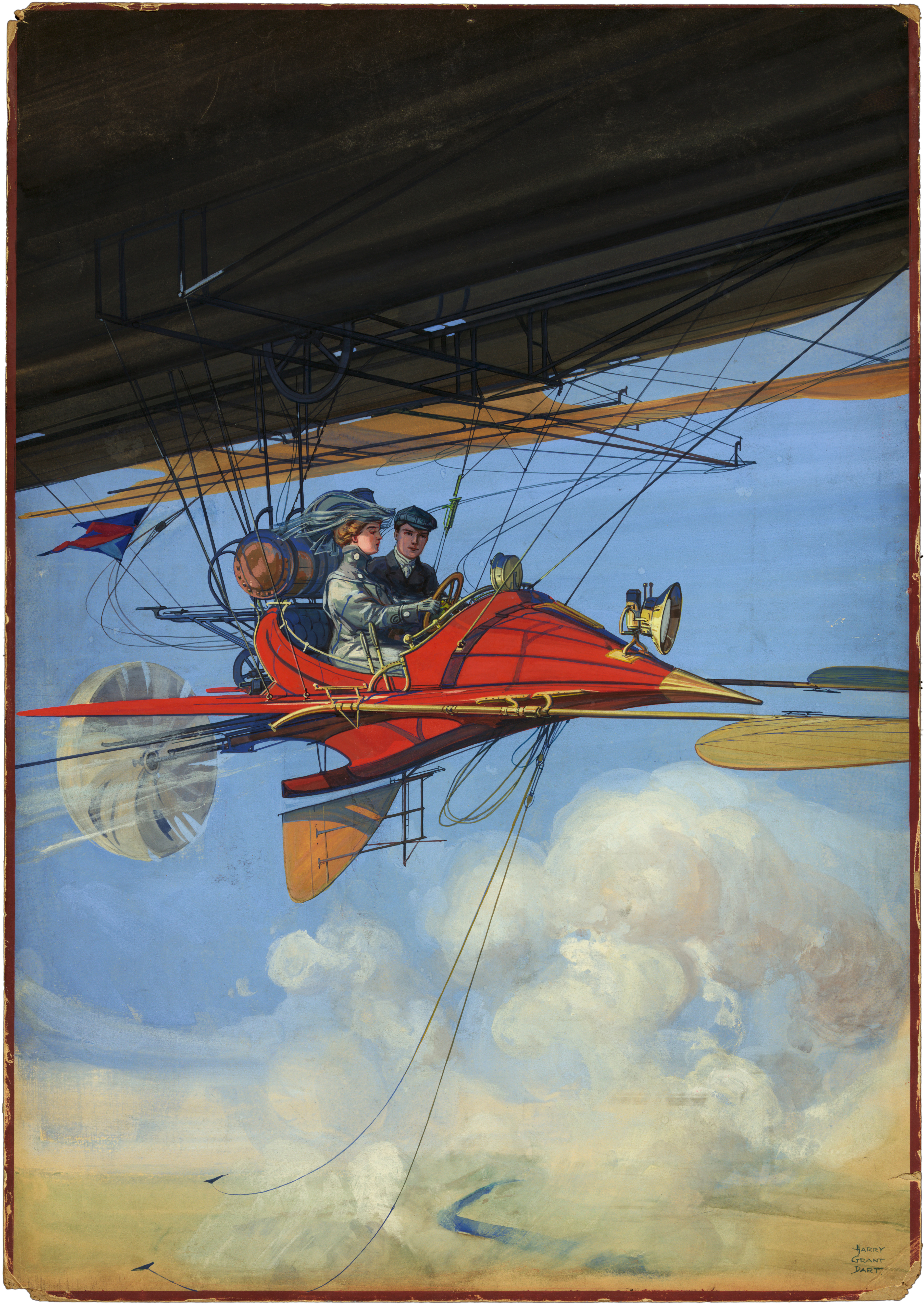 Cover illustration by Harry Grant Dart for the magazine ''[[The All-Story