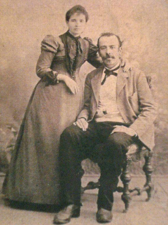 Retrato de Antonio Machado Álvarez y Ana Ruiz, padres de Antonio