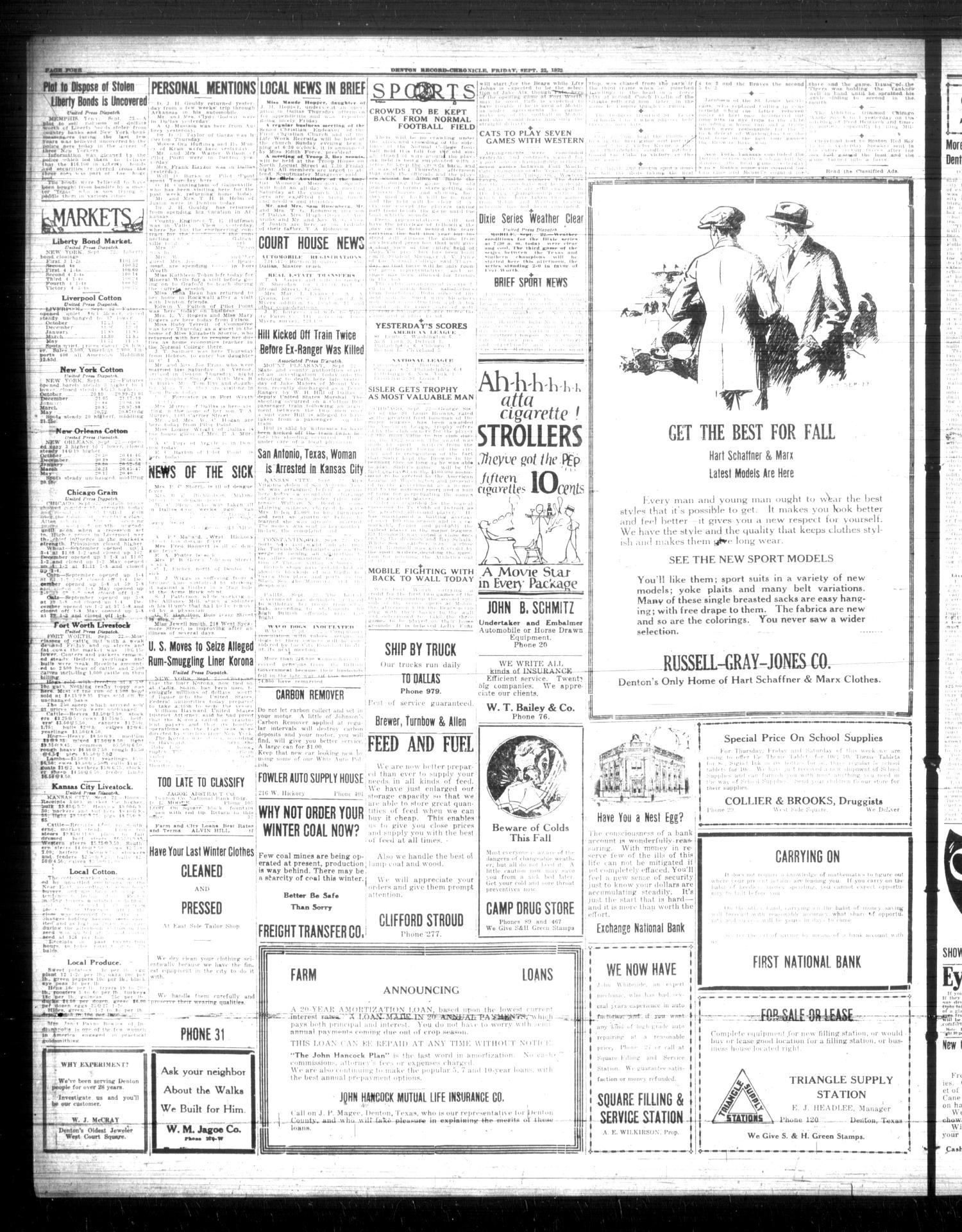 File:Denton Record-Chronicle (Denton, Tex.), Vol. 22, No. 34, Ed. 1 Friday, September 22, 1922 - DPLA - e6141c67b6b5b6ea22c8889d5d77626c (page 4).jpg - Wikimedia Commons