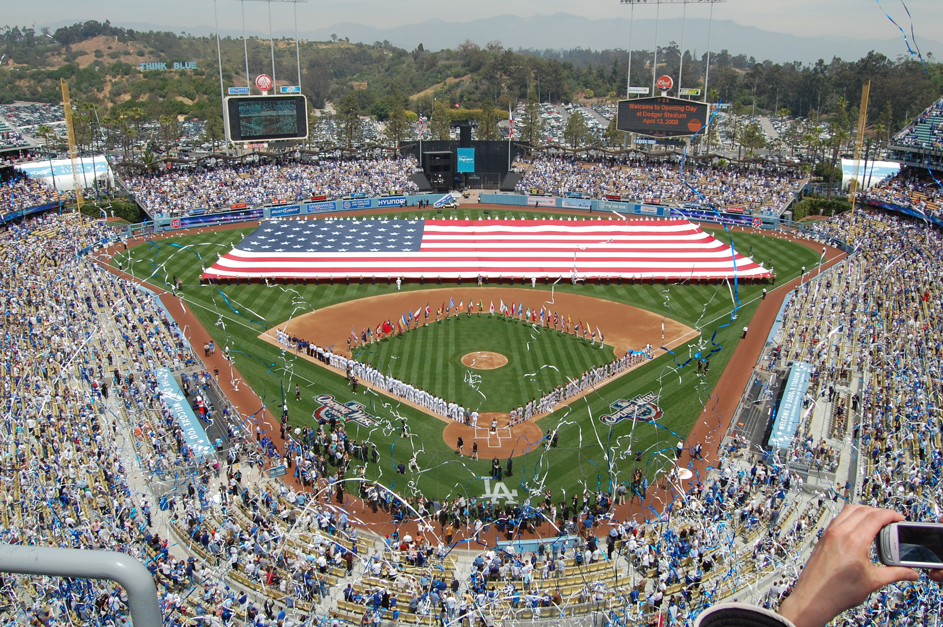 dodgers  opening day 2010