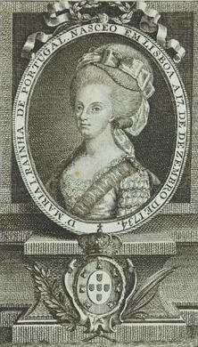 File:Drawing of Queen Maria I of Portugal with a Portuguese inscription stating her date of birth by Manuel da Silva Godinho.jpg