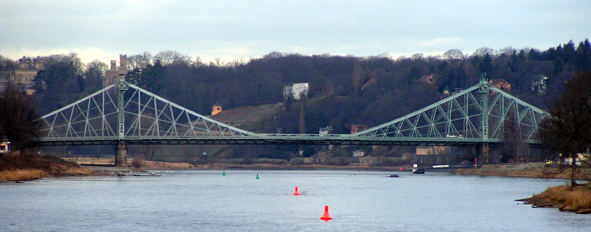 Description dresden germany bridge blaues wunder