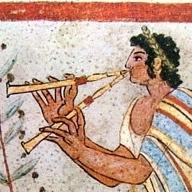 Tumba etrusca de Leopardi (detalle).