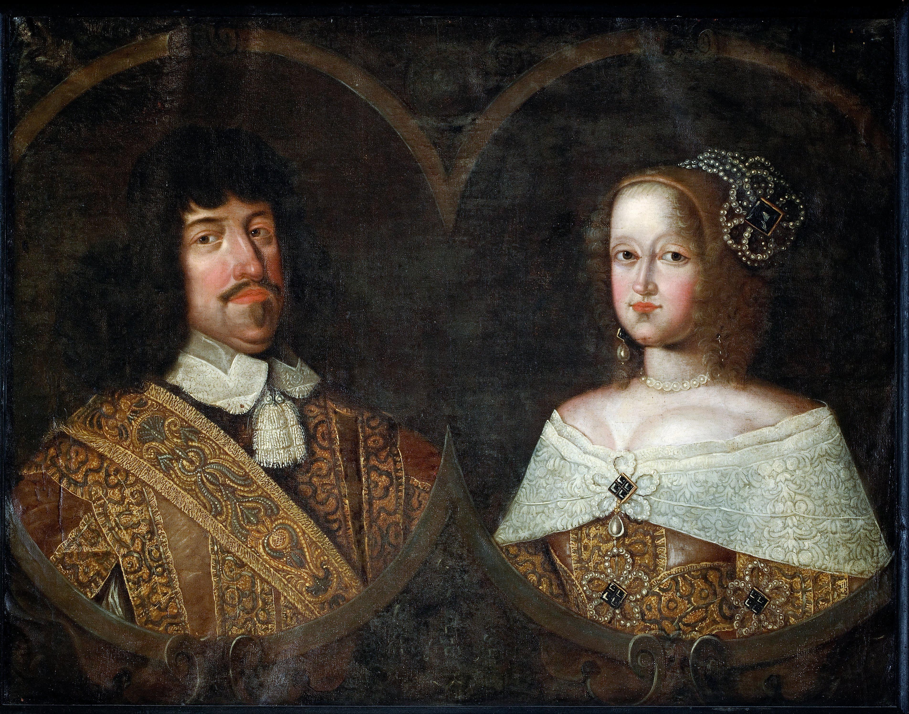 Fil:Frederik III of Denmark (1609 – 70) and Sofia Amalia of Braunschweig-Lyneburg (1628 – 85 ...