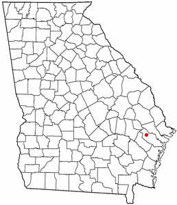 Location of Fort Stewart, Georgia